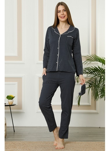 Akbeniz Pijama Takım Lacivert